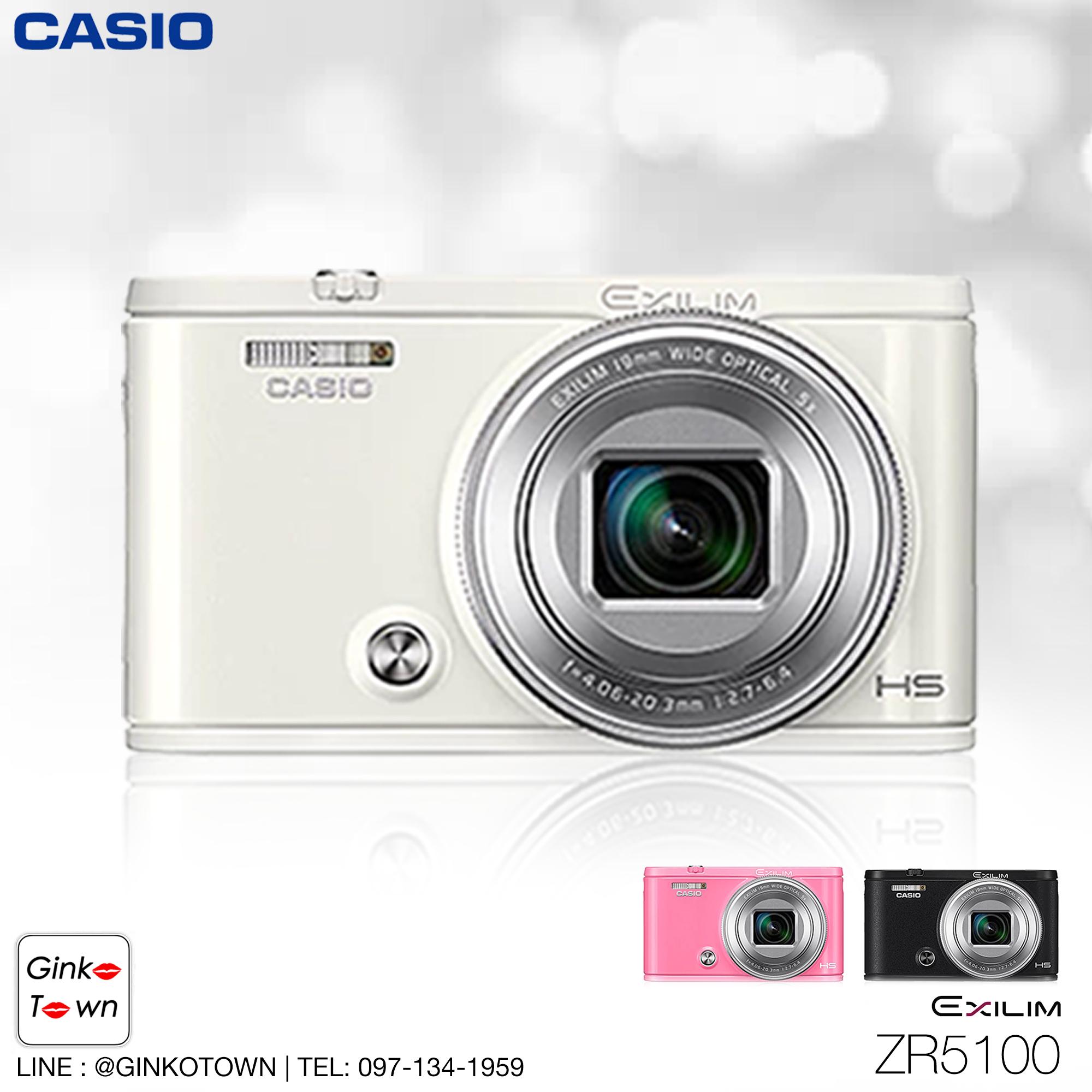 กล้อง casio zr5100 สีขาว